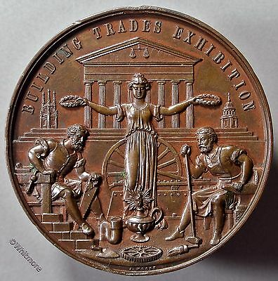 1886 Sheffield Building Trades Exhibition Medal 51mm Society of Architects