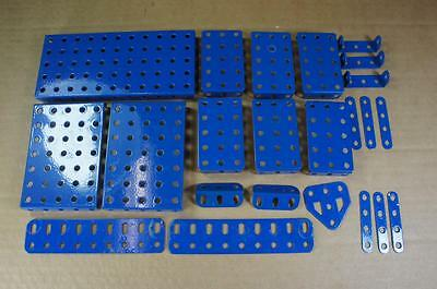 Meccano post 1980 selection of French blue parts