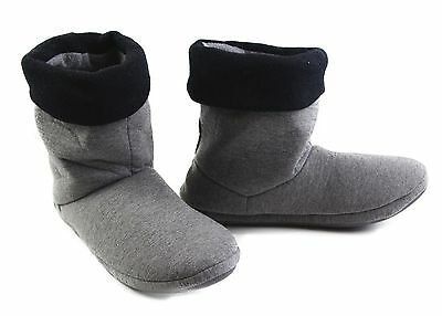 Mens Grosby Hoodies Boots Charcoal Grey Black Slippers Size S M L Xl