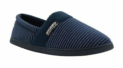 Mens Grosby Hoodies Navy Blue Knitted Slipper House Slippers Shoes Size S M L Xl