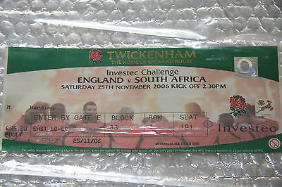 England .v. South Africa - Ticket stub from 2006