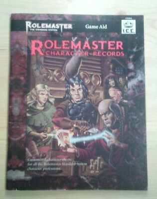 ROLEMASTER Game Aid  #5504 I.C.E. ROLEMASTER CHARACTER RECORDS FRP RPG