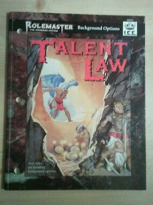 ROLEMASTER Background Options #5523 I.C.E. TALENT LAW FRP RPG