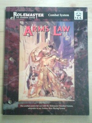 ROLEMASTER Combat System #5520 I.C.E. ARMS LAW FRP RPG