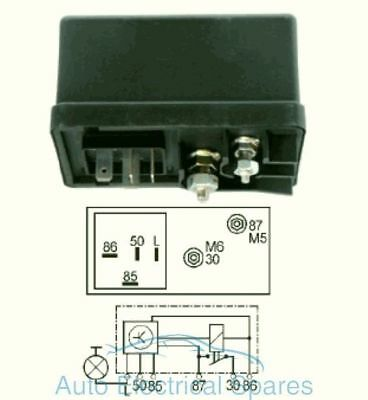 UNIVERSAL glow plug controller / relay 12v 6 terminals replaces Lucas HDC103