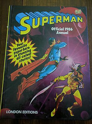 Superman Official 1986 Annual - Comic - Hardcover - Excellent Condition