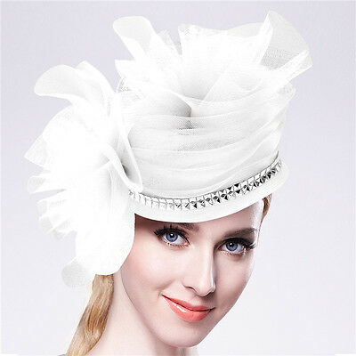 Women Chic Hair Fascinators Hat Wedding Party Church Headpiece Fashion Headwear1