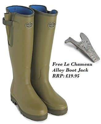 Le Chameau Vierzonord Neoprene Lined Rubber Wellington Boots + Free Gift!!