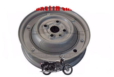 "WHEEL RIM VESPA COMPLETE 9"" 50-90cc 2,3/4 X 9 FULL GREY 1965-70  @AUS"