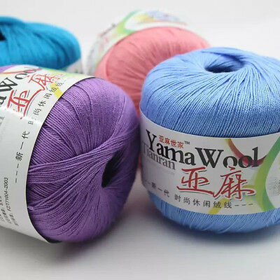 Sale LOT of 1 Ball X 50gr linen lace making Soft Milk cotton Wool Knitting Yarn