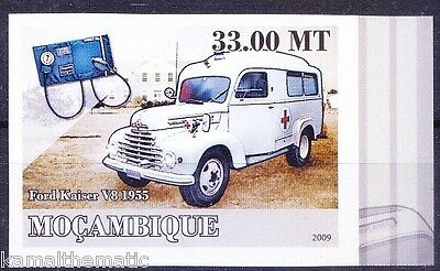 Mozambique MNH Imperf, Ambulance, Red Cross, Blood Pressure instrument