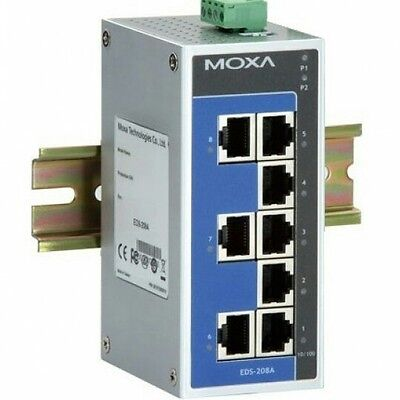 Moxa EDS-208A 8 Port 10/100 Industrial Ethernet Switch DIN