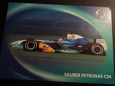 Official Sauber Petronas C24 Postcard with technical data