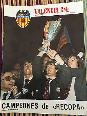 Magazine Official Valencia Arsenal Final Winners Cup 1979 1980 Heysel Poster
