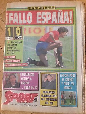 Eire Ireland 1-0 Spain Euro 2004 Qualifying Sport 27 April 1989 England Lineker