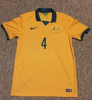 Australia Socceroos Nike Jersey - CAHILL 4 Authentic SIZE M