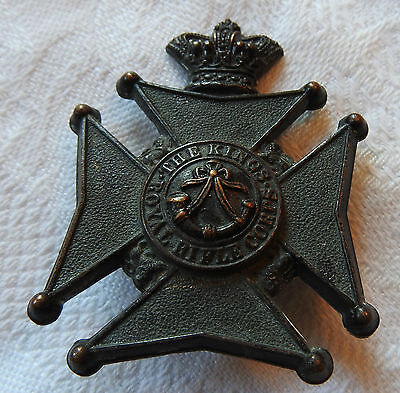 Military Victorian The King's Royal Rifle Corps Glengarry Cap Badge (3264)
