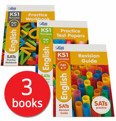 Letts KS1 English SATs Revision Help Collection - 3 Books