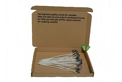 25cm/10inch High Quality Pre Waxed Wicks With Sustainers For Candle Making