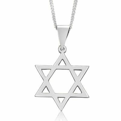 Silver 925 Jewish Magen David classic pendant necklace, Israel star of David