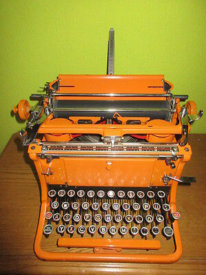 german TYPEWRITER Continental in orange is there only one time in the world rare