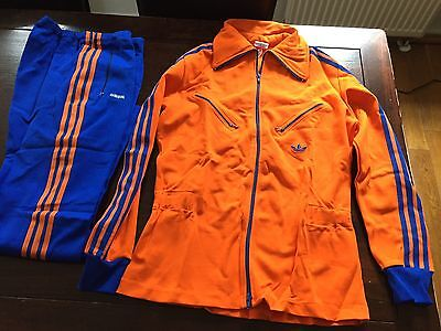 Vintage Adidas Track Suit 1970's Rare Made in West Germany D52 Deadstock Girls