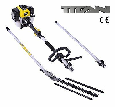 52cc Hedge Trimmer Brush Cutter Petrol Engine Garden Tool 1m Extension Pole NEW