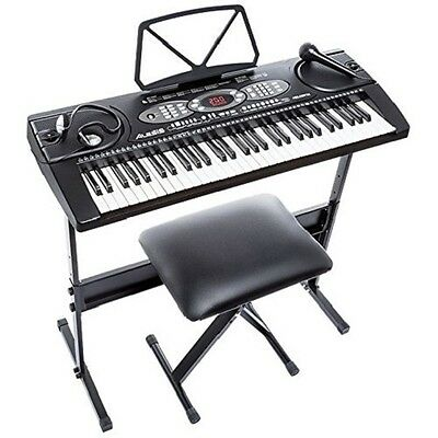 Alesis Melody  61Key Portable Keyboard Bundle Black With Accessories New