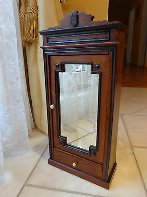 French antique cupboard with mirror monogram ZB c1880 for Jumeau fashion doll