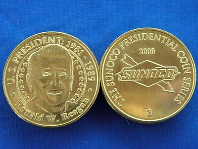 US President Ronald W Reagan Sunoco Presidential Coins Lot of 10 Tokens