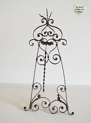 Vintage Curly Metal Book Photo Picture Stand Easel Artwork Display Holder