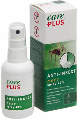 Tropicare care PLUS ANTI-INSECT DEET Spray 40 perfektes Mückenmittel in Malaria