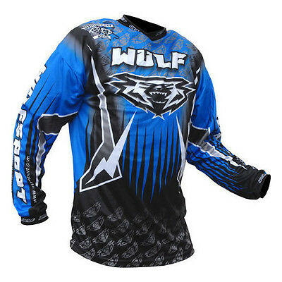 Wulfsport Arena Adult Blue Black Motocross Jersey MX Top New