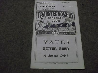 Tranmere Rovers V Stafford Rangers Cheshire County League 3Rd December 1960