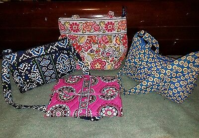 Lot of 4 Vera Bradley Purses Jewelry Tote Retired Patterns