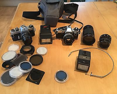 35mm Camera Bundle with lenses,Flashes,Bag and Filters.