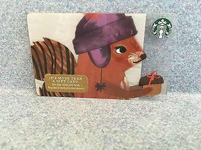 Starbucks 2016 Squirrel Christmas Holiday Gift Card