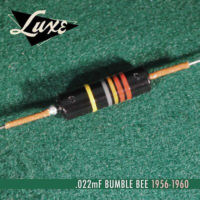 Luxe 1956-1960 Single Oil-Filled .022mF Bumble Bee Capacitor