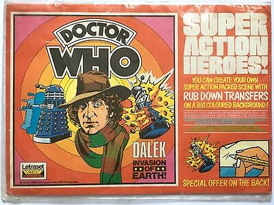 DOCTOR DR WHO DALEK INVASION OF EARTH LETRASET ACTION TRANSFERS c1976