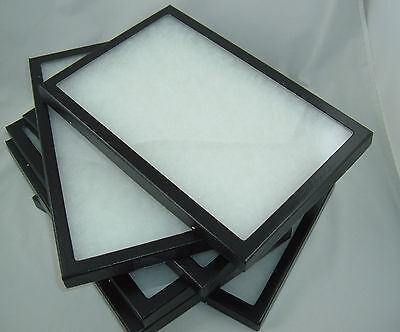 six jewelry display case riker mount display box shadow collection polyfoam 6X 8