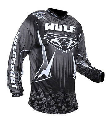 Wulfsport Arena Adult Grey Black Motocross Jersey MX Top New