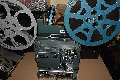 16mm SOUND FILM PROJECOTR EIKI ELF TOP QUALITY BLUE MODEL 2 SPEED spare lamp etc