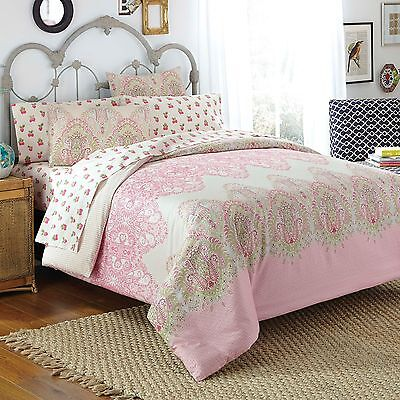 Bed in a Bag Victoria Full Comforter Set, Free Spirit, Sheets NEW