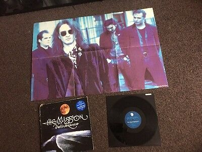 "The Mission-Deliverance 12"" vinyl Record Plus Poster  Vinyl Is Near Mint Con"