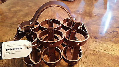 Fyxation Tannery Collection Full Grain Leather Beverage Holder Wisconson