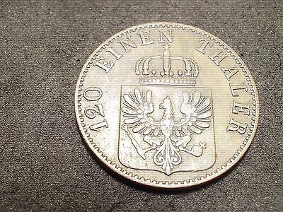 1863A German State-Prussia- 3 pfennig coin- - -sh Canada is 1.50