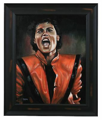 Original Framed Oil Painting On Canvas (Michael Jackson) Signed By Artist