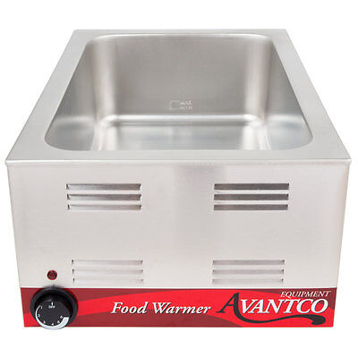 "FULL SIZE 12"" x 20"" Electric Countertop Food Pan Warmer Commercial Chafing Dish"