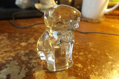 Antique Vintage Glass Candy Container Puppy Dog-1940s