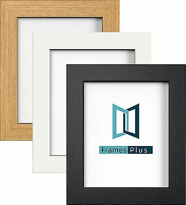 Photo Picture Frames Black White Oak Colour, Modern Range, All Sizes A1 A2 A3 A4